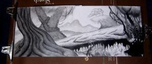 Jungle Drawing by CamT