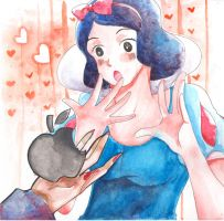 Snow white with apple by RireNe-RN