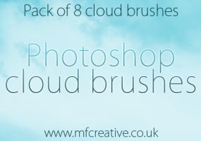 Photoshop Cloud Brushes by mfcreative
