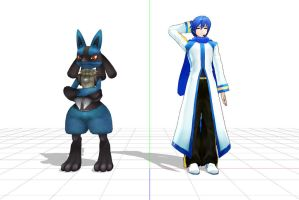 Kaito: Lucario, you gonna work with me here? by LegolasGimli