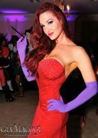 Gia Marie Macool cosplay as Jessica Rabbit 2 by CaptPatriot2020