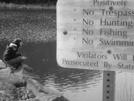 No Fishing by frubafreak17