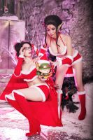 League of Legends - Christmas Vayne and Evelynn by MasyFox