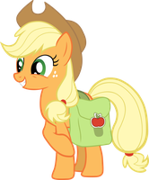 Applejack with Saddlebag Vector by scrimpeh