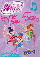 Winx Club Poster: Musa, Bloom, Flora by Rose9227614