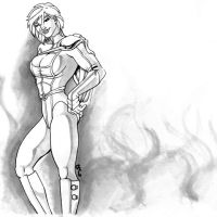 Powergirl...gray by thelearningcurv