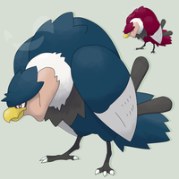 Fakemon ContestMascot: Volkrow by mssingno