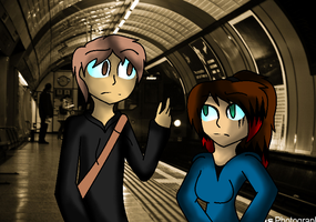 becky and james lost in london by LethalWeapon07