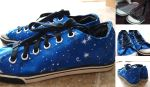 Handmade Starry Shoes by ourdancingdays