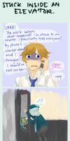 Brodiac: Stuck in an elevator : Air by SPINNY-chair-HERO