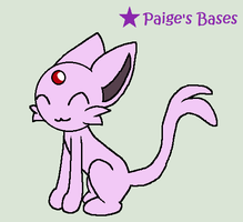 OLD Espeon Base by Paige-the-unicorn