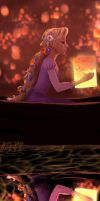 Speedpainting Tangled by JennyJinya