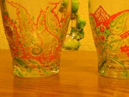 glass cups by AnnaBorealis
