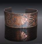 Raven Song Etched Copper Cuff by Gardi89