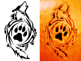 Tribal Wolf Carving by SatoshisDarkchan