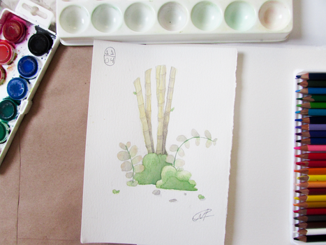 Bamboo Watercolor painting by MarcoAntonioMoreira