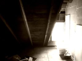 Attic Corner with window by samaya-stock