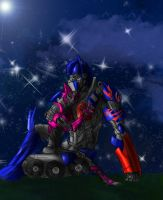 Optimus and Elita-one by SoulRobot