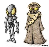 4-LOM and Zuckuss by kodaddy
