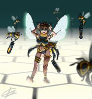 Silly Bee Girl by Testament77