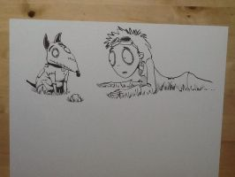 Frankenweenie sketch up for my daughter by 12BarBlues