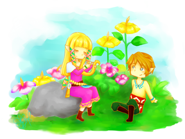 Zelda x Link by PetiteSue