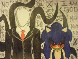 SONIC.EXE AND SLENDER MAN !!! by Fluttershiny