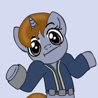 Littlepip Shrug by Darksaber64x