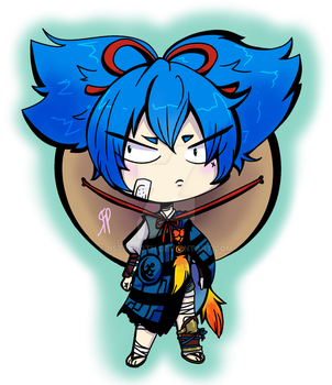 Chibi Sayo sticker by squintybarnowl