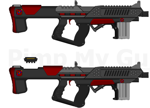 D.I.I. ESMG-9 'Tempest' - ME Style SMG/PDW by Lord-DracoDraconis