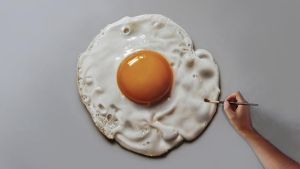 Fried Egg Painting by marcellobarenghi