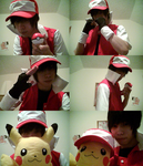 Pokemon Trainer Red cosplay by LokiBoki