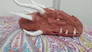 Dragon head (clay and tin foil) #2 by serioussam2006