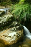 Nature - small waterfall 2 by Stock-gallery