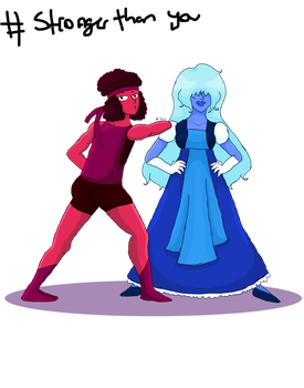 Ruby and Sapphire by RosieTheUmbreon