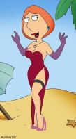 Lois Griffin as Jessica Rabbit by Dustiniz117