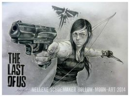 Last of us - Ellie 9 years after by Hollow-Moon-Art