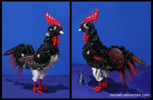 Bionicle MOC: Jesus College Rooster by Rahiden