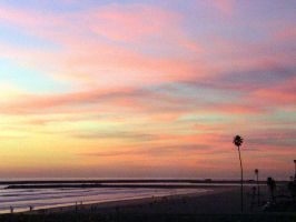 California    Sunset    # 0002 by ANGELICA-LILY