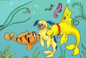 Fishy animals. Want to play? by TiElGar
