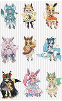 6 HOURS: O: EEVEELUTION AUCTION by Lolisoup