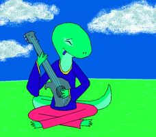 Spaced Out Life - Space Gecko by yeagerspace