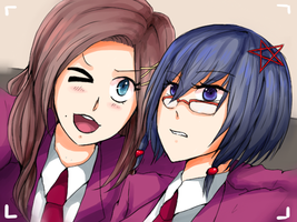 Sayaka and Naho : Selfie by Reikiwie