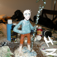Jack Frost clay figure finish by HezuNeutral