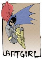 batgirl by damnskippy, colored by everydaycomics