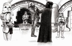 Darth Vader interrogating Captain Antilles by AnakinJones