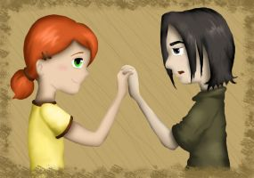 Little Lily and Snape by Tez-zah