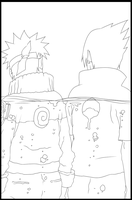 Line sasuke and naruto by n3eko123