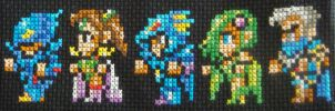 Final Fantasy IV Cross Stitch by pixel8bit