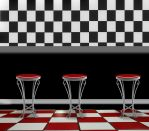 American Diner Background by Nitwitbrit